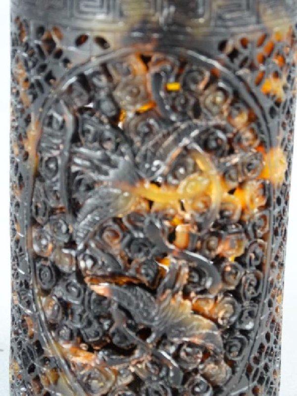Highly Carved Tortoiseshell Lidded Jar - 3