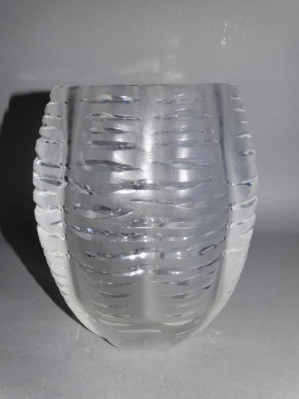 Lalique Art Deco Crystal & Frosted Glass Vase