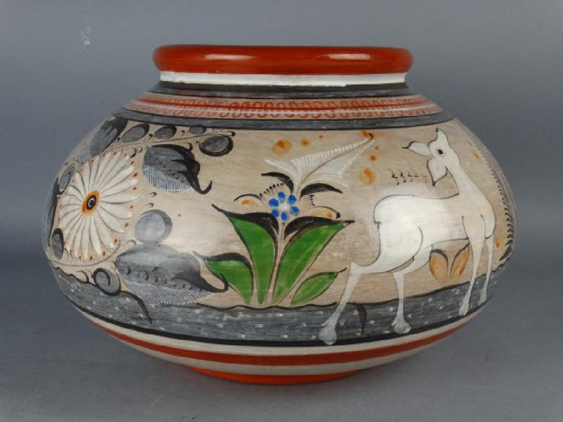 Large Vintage Tonata Mexican Pot - signed A. Solis