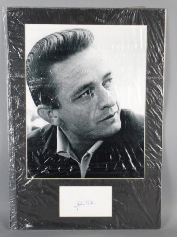 JOHNNY CASH - Matted Autograph & Photo