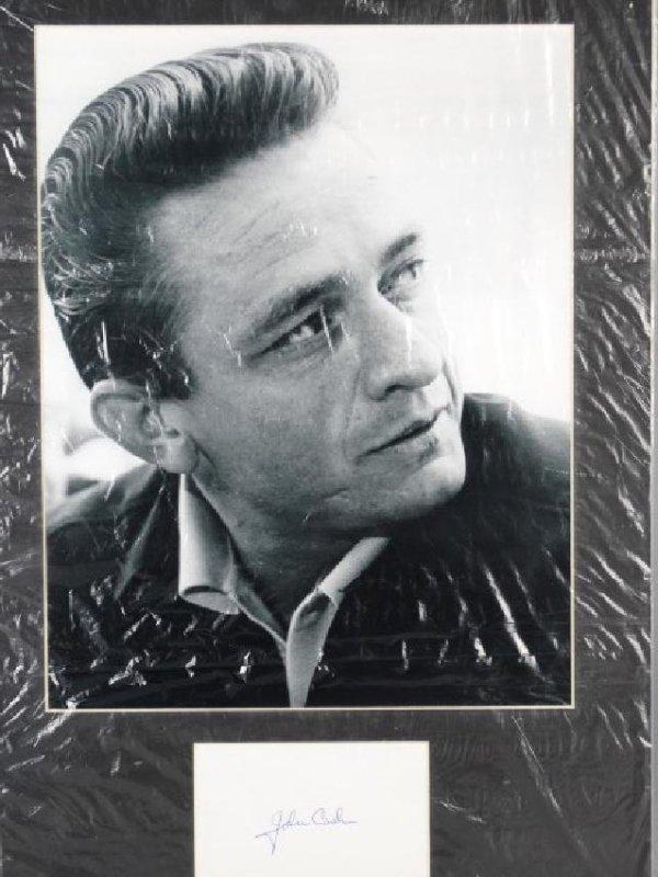 JOHNNY CASH - Matted Autograph & Photo - 2