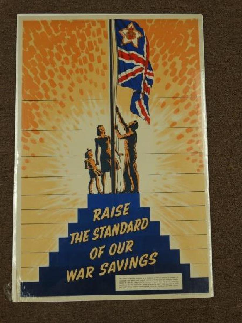 Original World War II British War Savings Poster