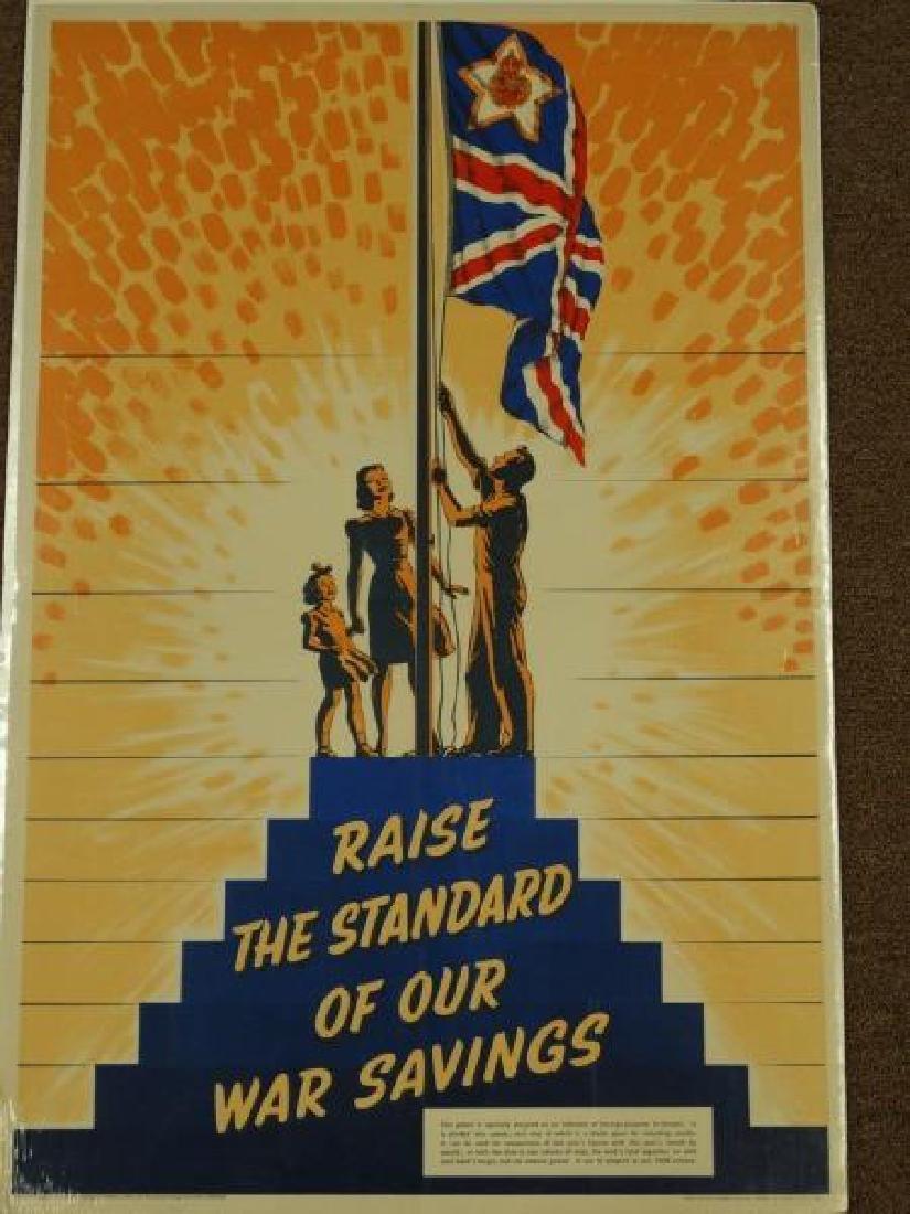 Original World War II British War Savings Poster - 2