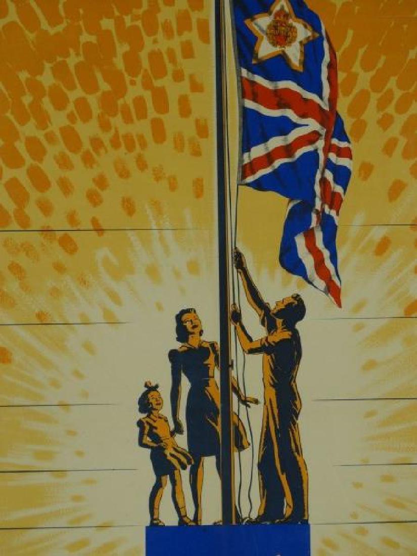 Original World War II British War Savings Poster - 3