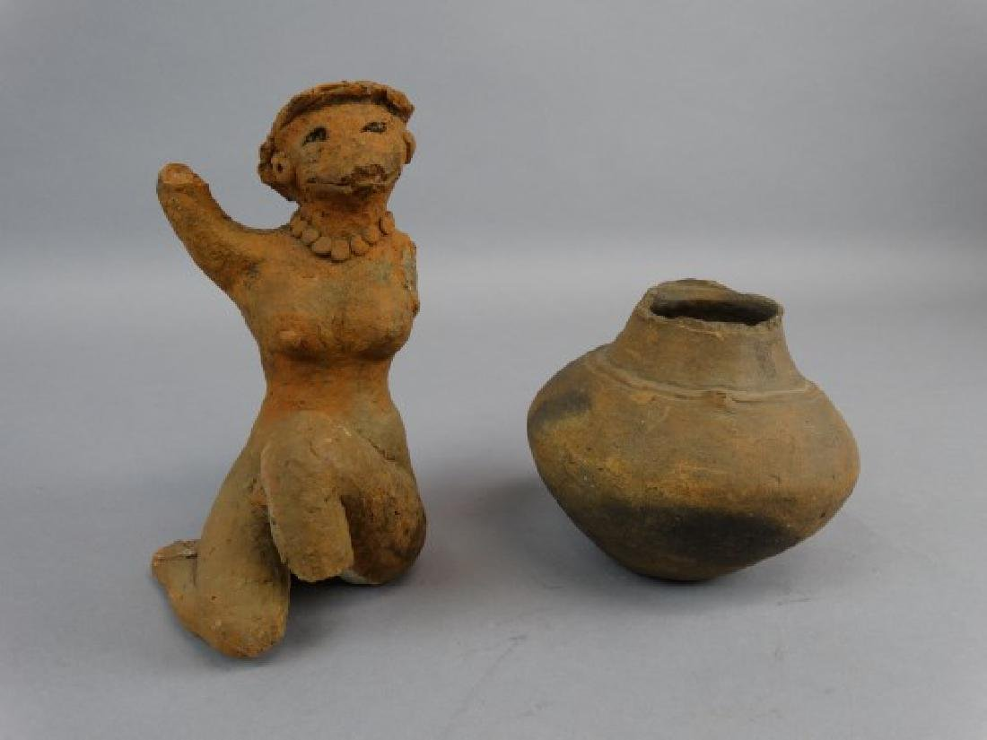 Lot of 2 Pre-Columbian Pieces of Pottery
