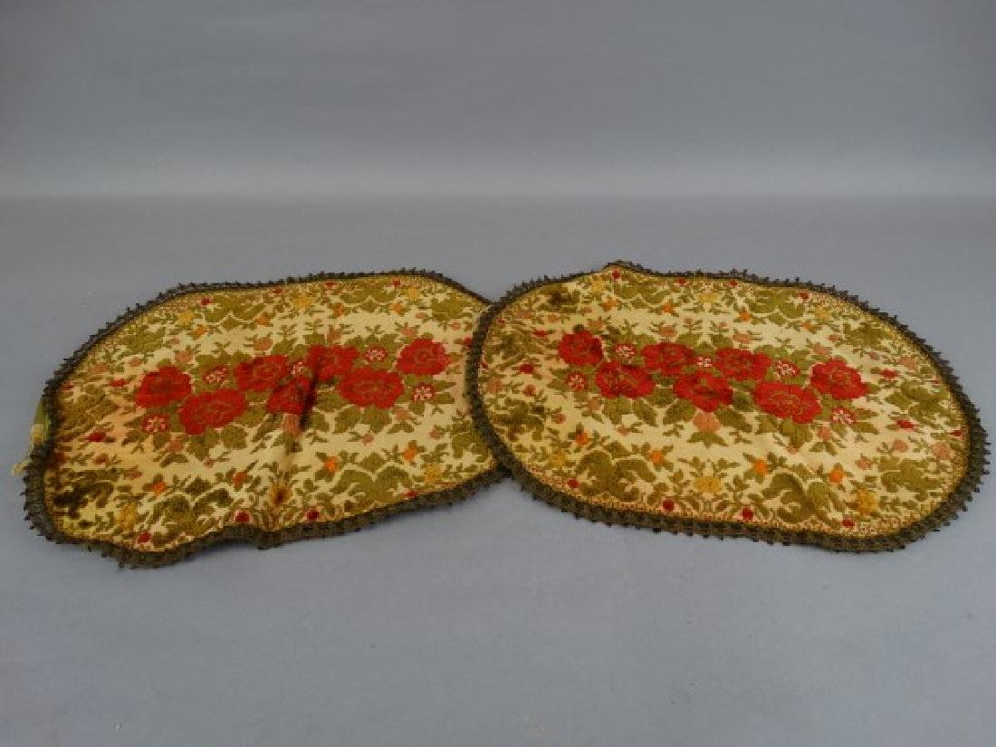 Pair of Fine Embroidered Belgian Placemats