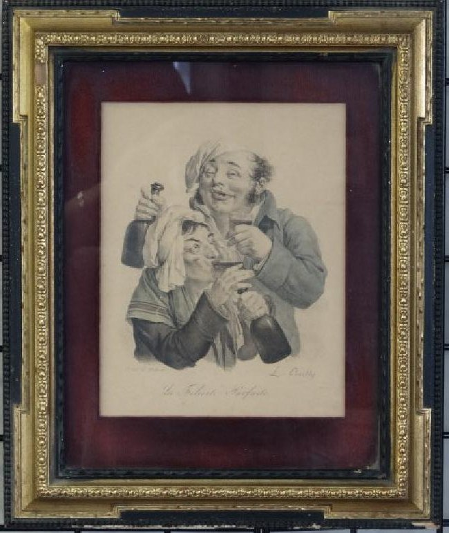 L.BOILLY - Colored Lithograph