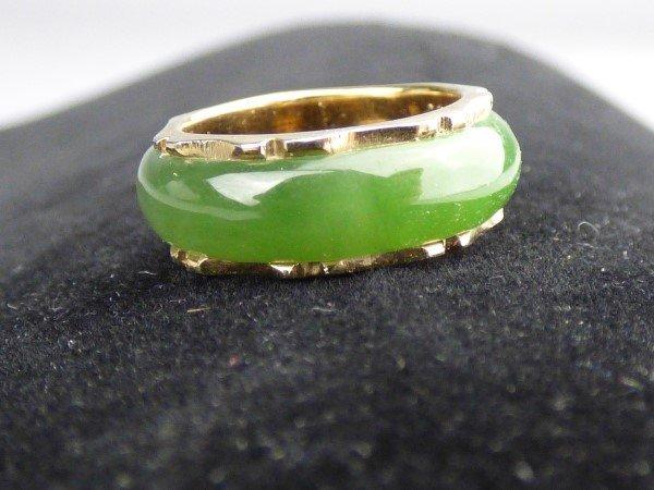 Jade & Gold Ladies Ring