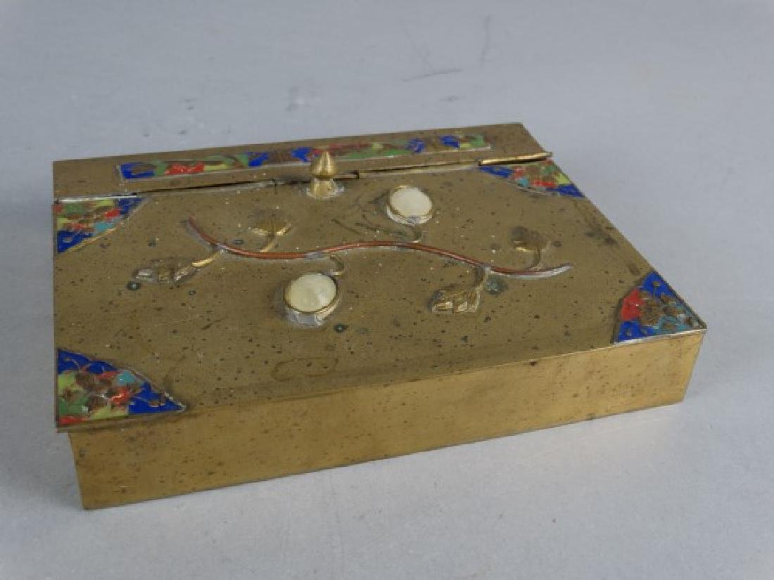 Enameled Brass Crumb Catcher