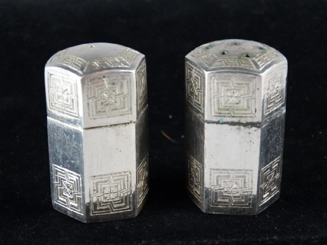 Persian Vartan .875 Silver Salt & Pepper Set