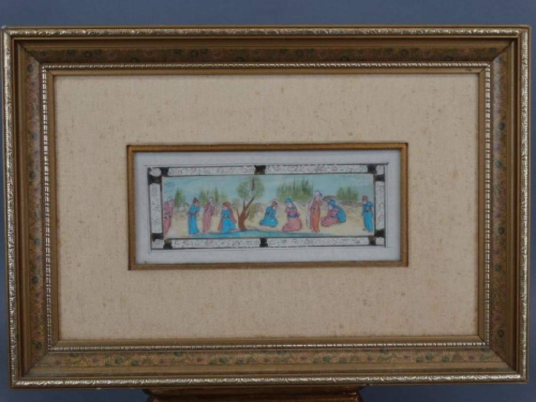 Handpainted Miniature Middle Eastern Plaque