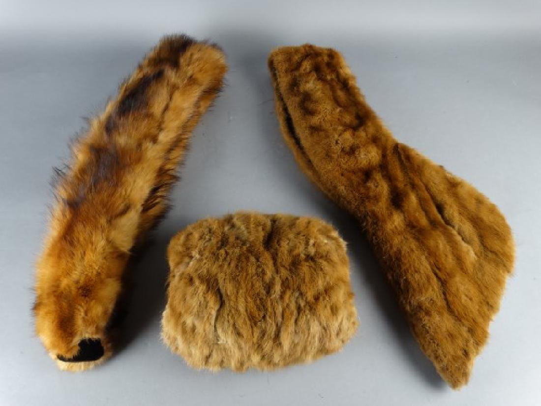 Lot of 3 Vintage Ladies Fur Articles