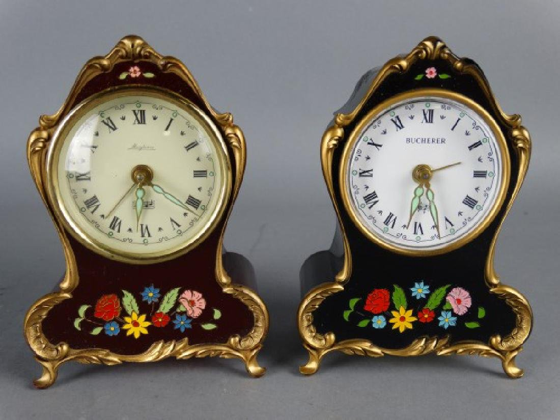 Group of 3 Small Rococo Style Clocks - 3