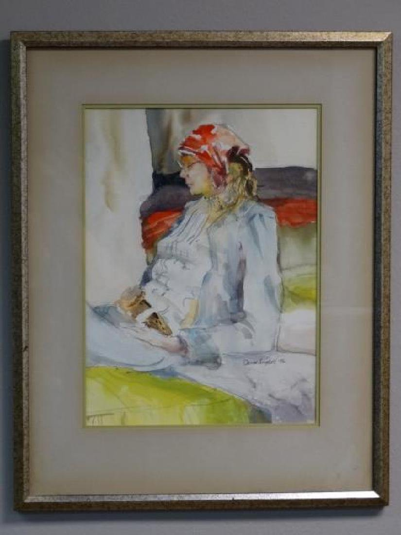 DAVID SNYDER : Watercolor of a Woman