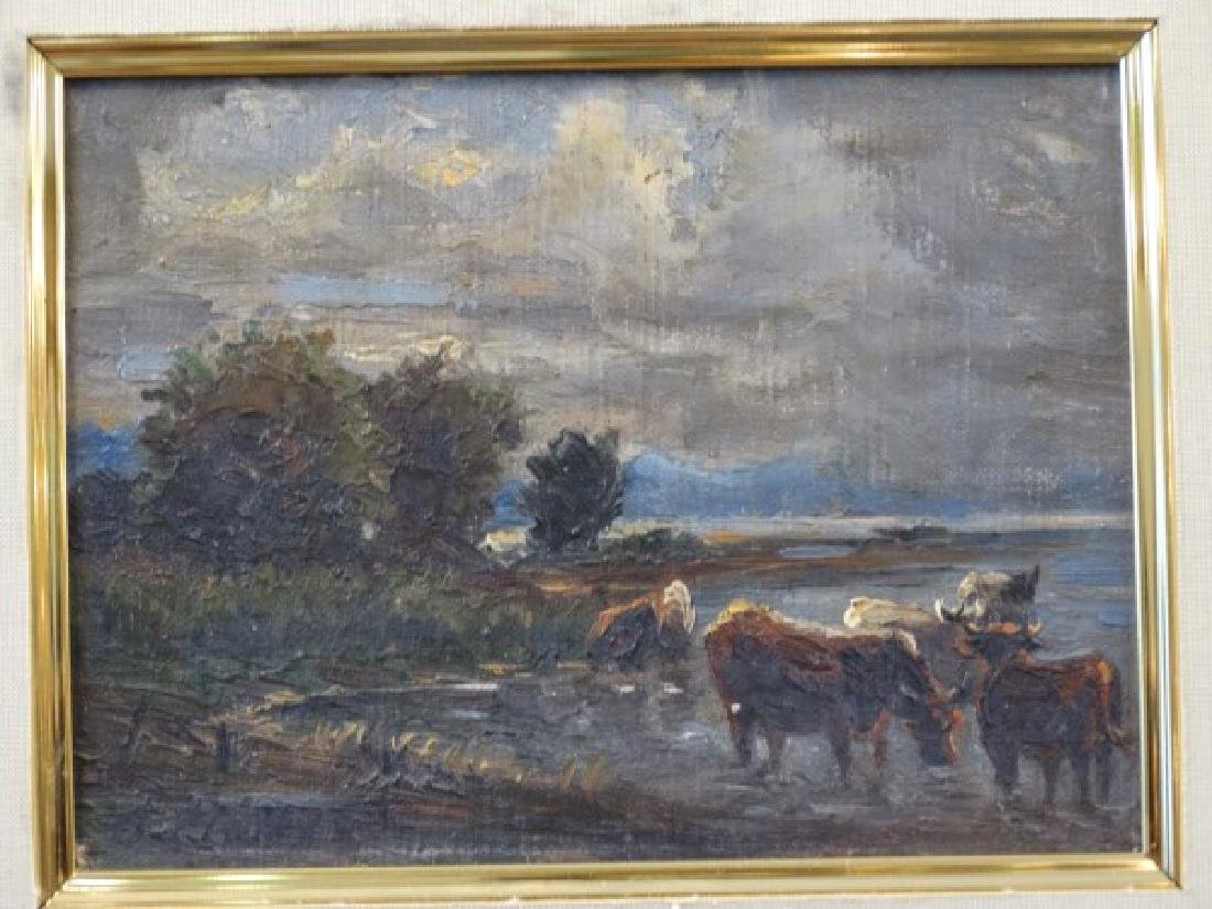 19c. Oil on Canvas Painting