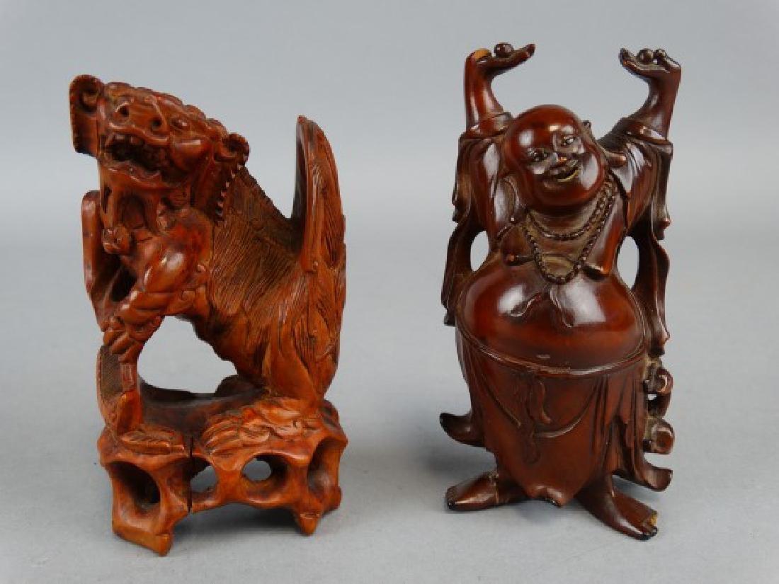 Lot of 2 Wood Carvings