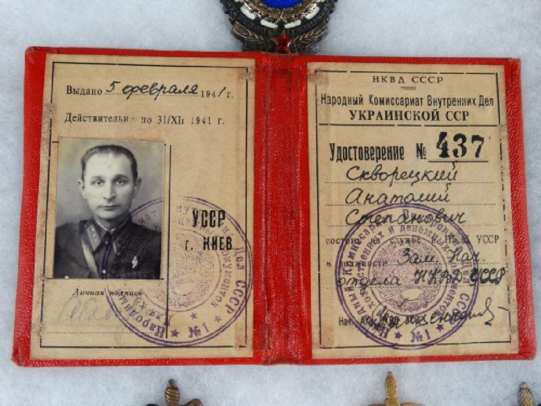 Collection of Russian Soviet Medals in Shadowbox - 3