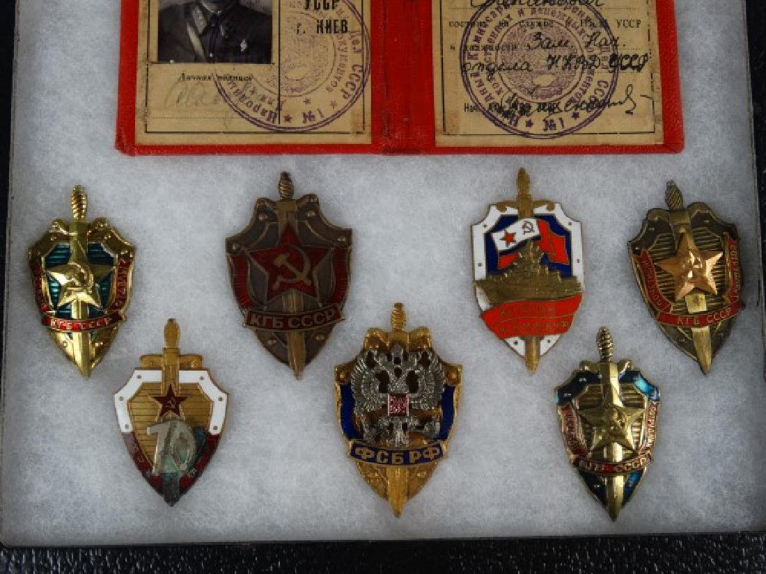 Collection of Russian Soviet Medals in Shadowbox - 4