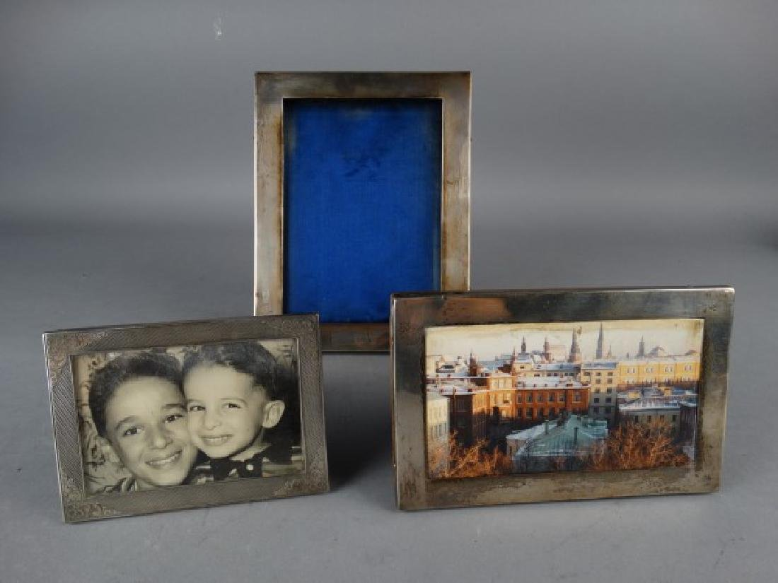Group of 3 Vintage Silver Picture Frames