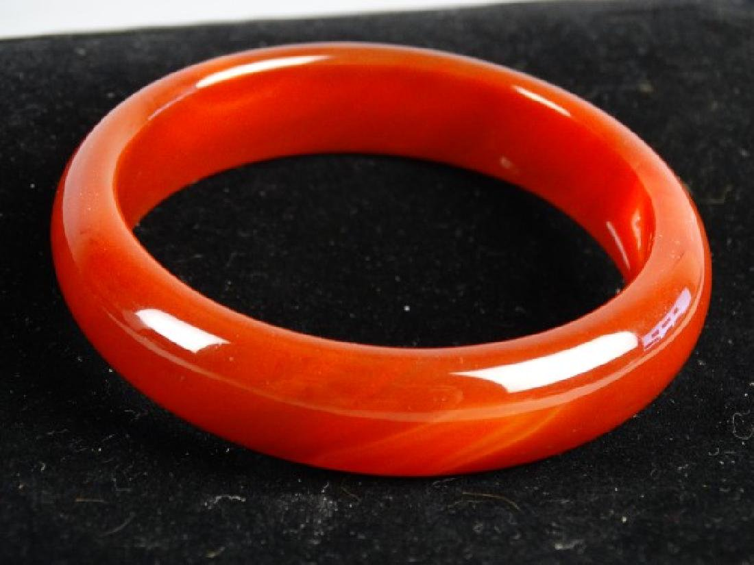 Carved Agate Bangle