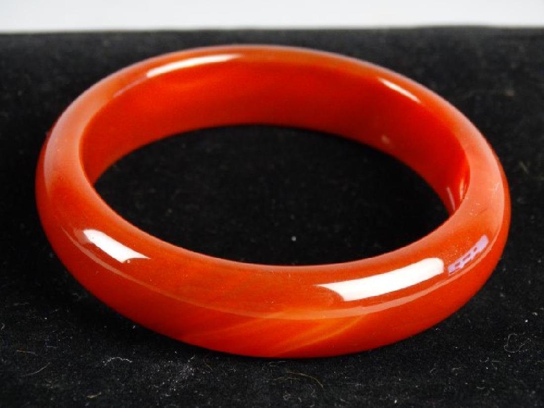 Carved Agate Bangle - 2
