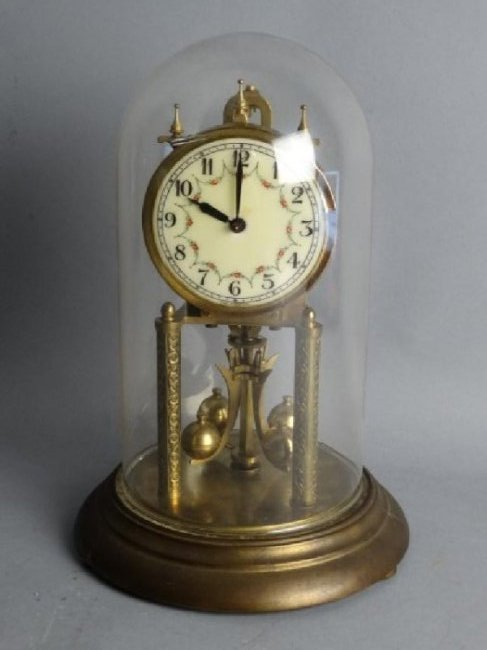 German Mantle Clock w/ Porcelain Dial