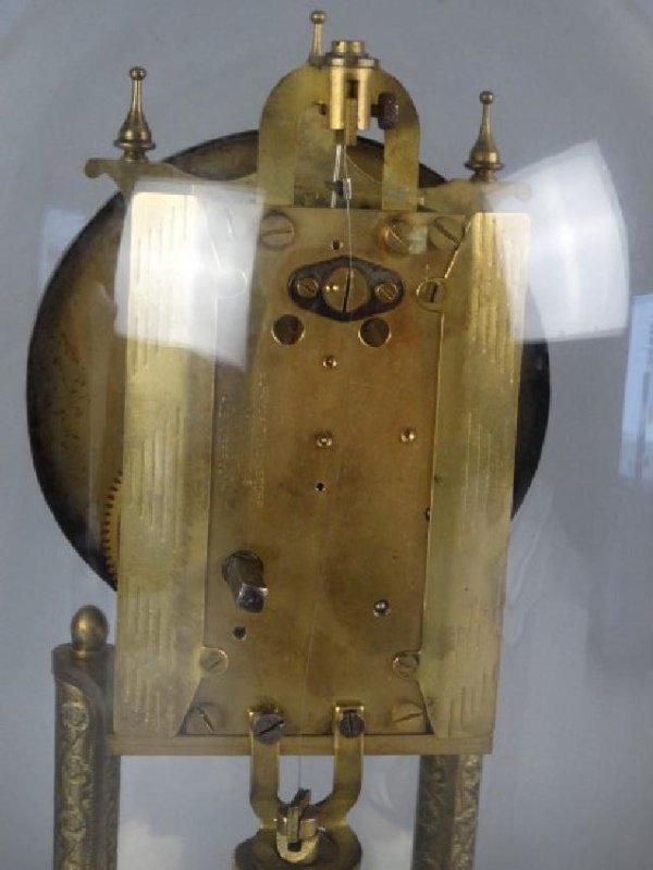 German Mantle Clock w/ Porcelain Dial - 5