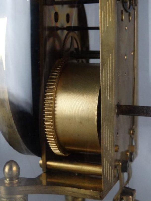 German Mantle Clock w/ Porcelain Dial - 6
