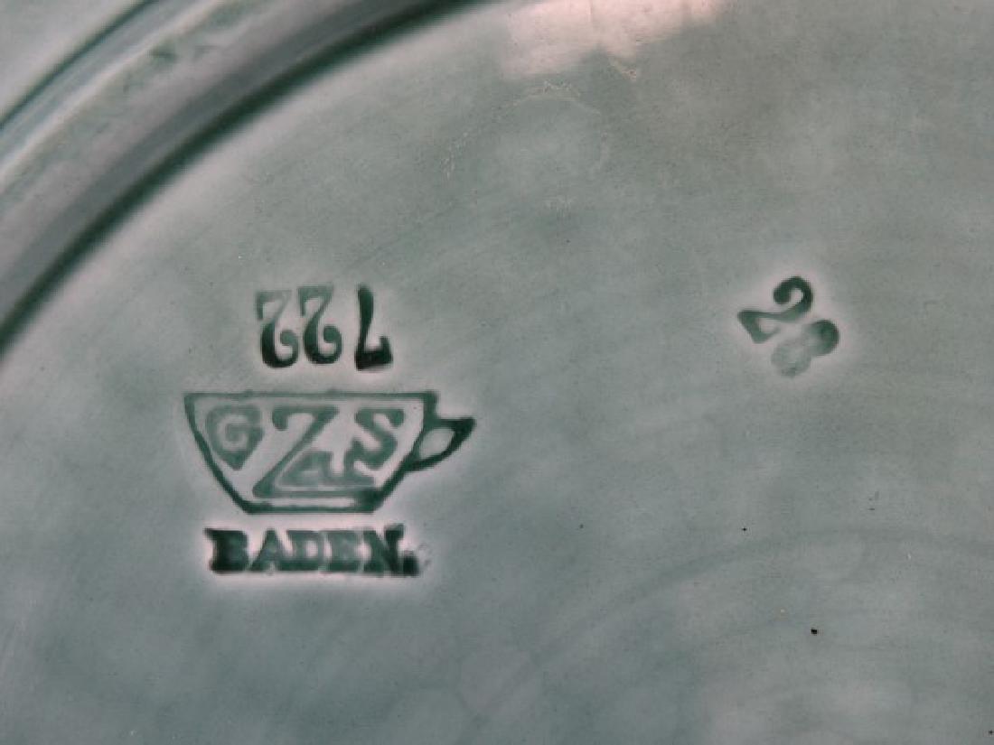 Antique GS Zell Baden 722 Majolica Plate - 5
