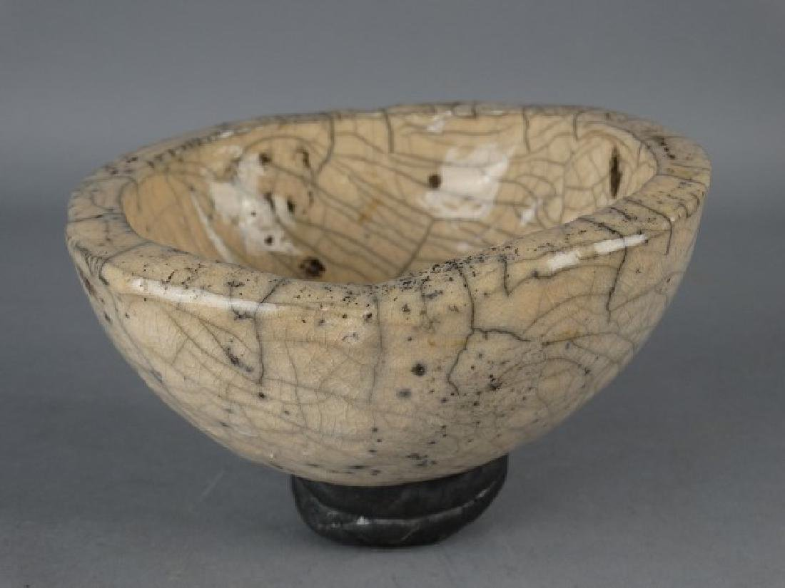 Crackle Glazed Art Pottery Bowl