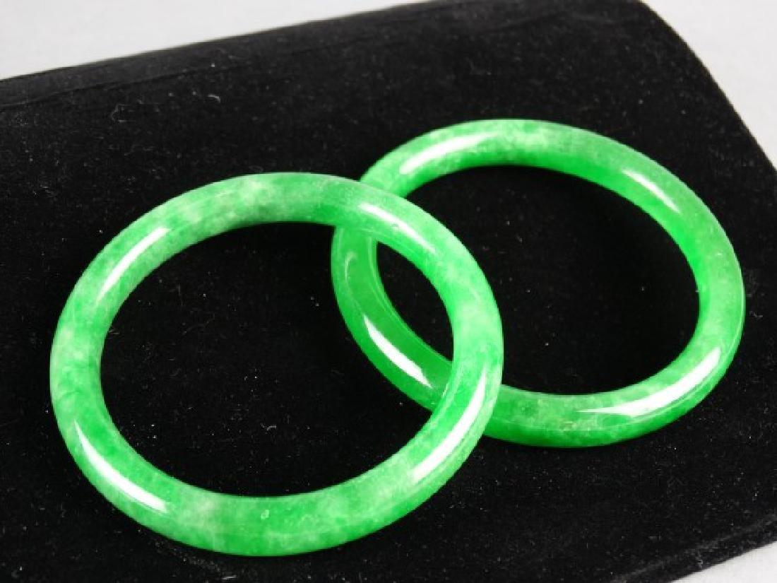 Lot of 2 Jade Bangles - 2