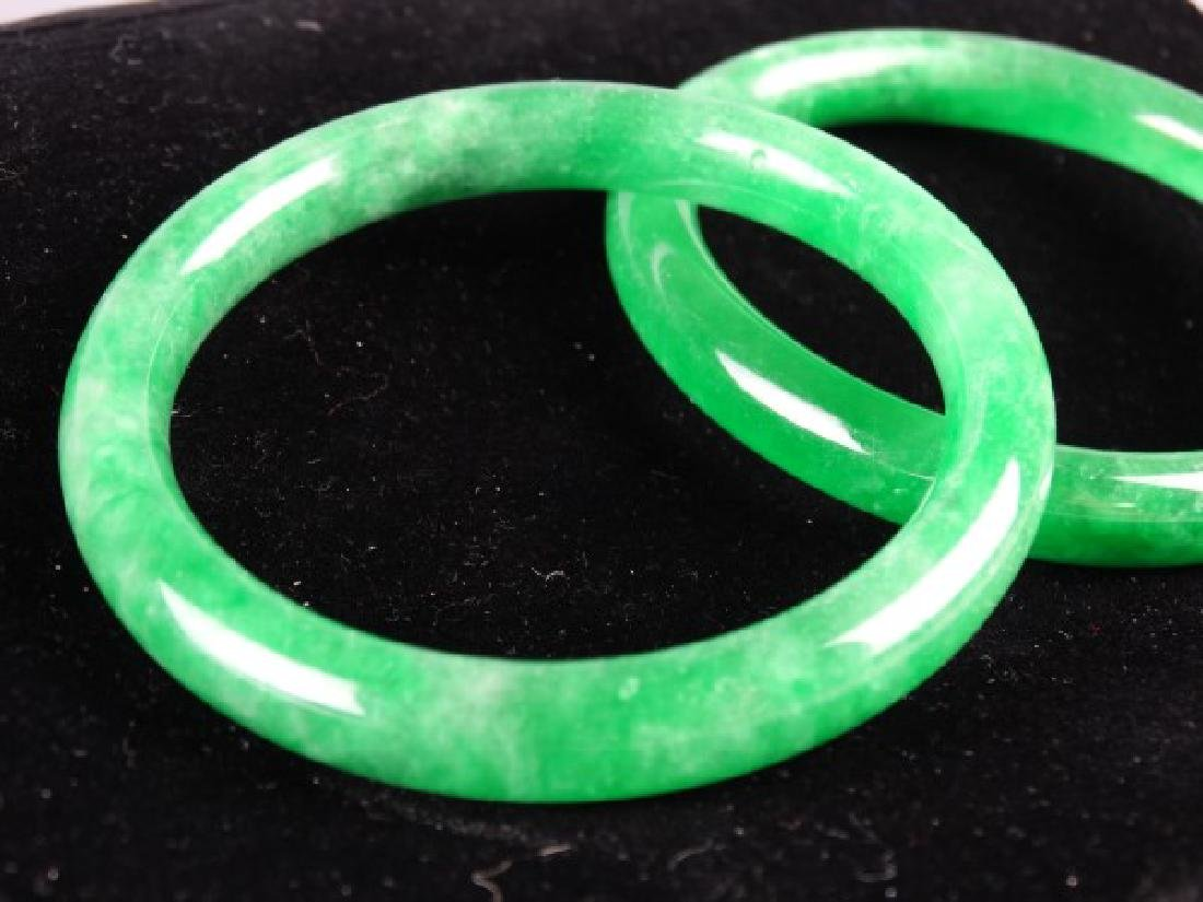 Lot of 2 Jade Bangles - 3