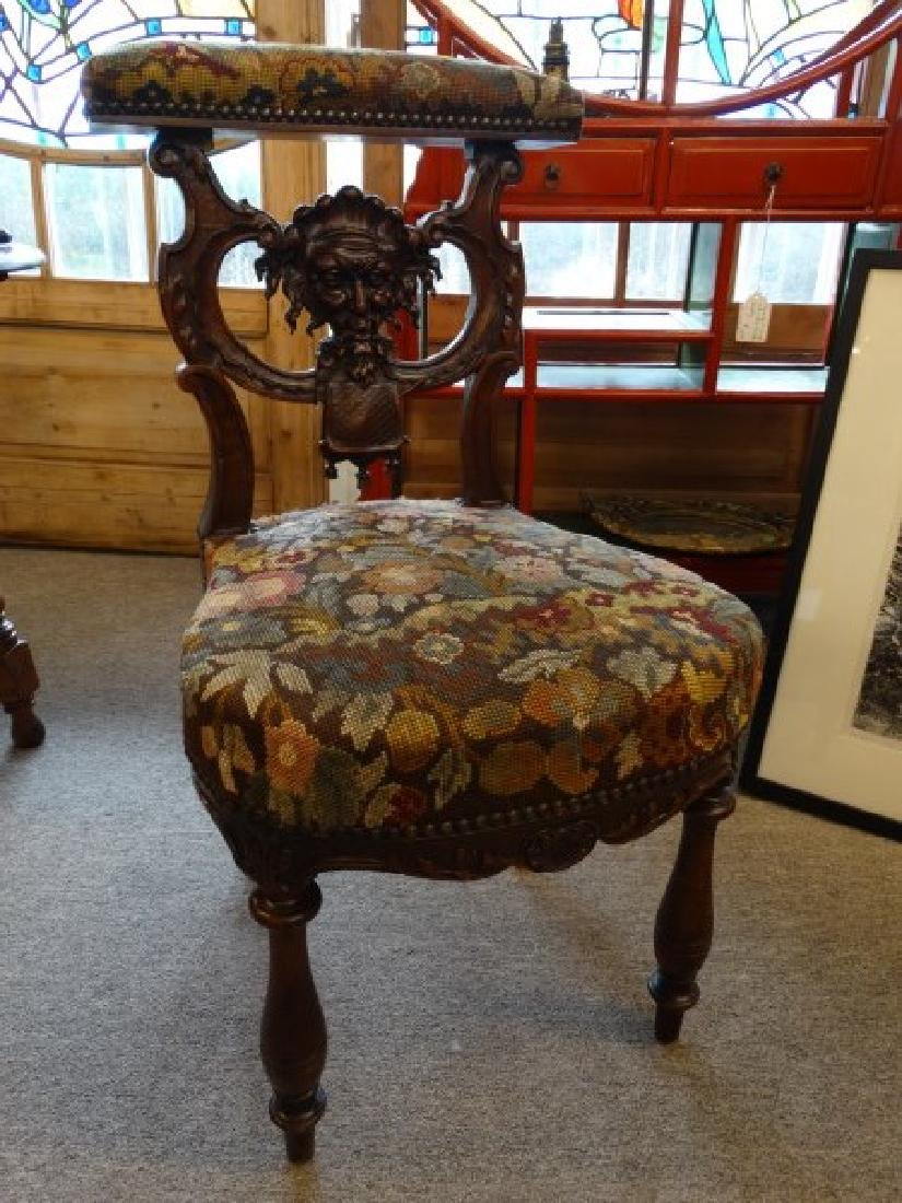 Antique French Carved Game Chair