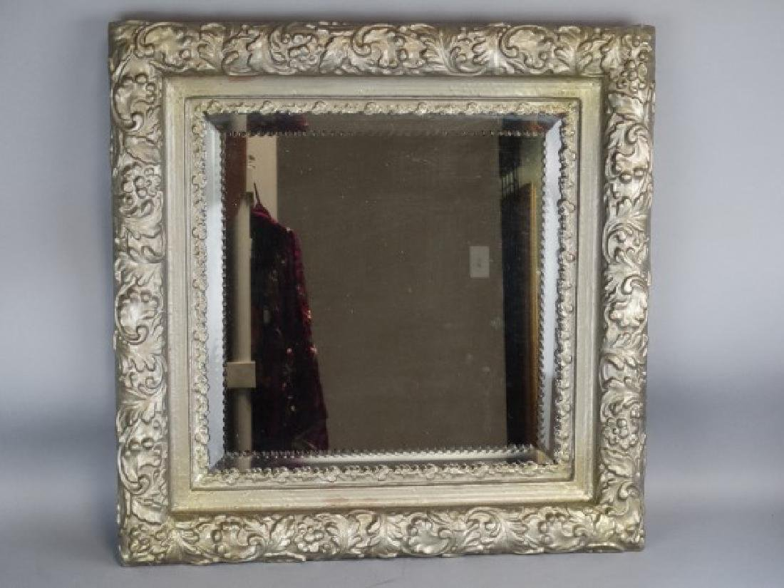 Beveled Edge Framed Mirror