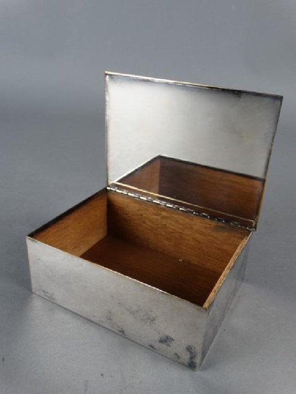 Tiffany & Co Silverplate Cigarette Box - 2