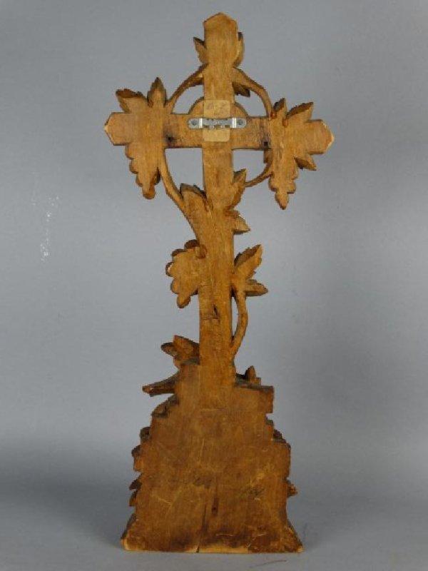 Antique German Black Forest Carved Holy Water Font - 4