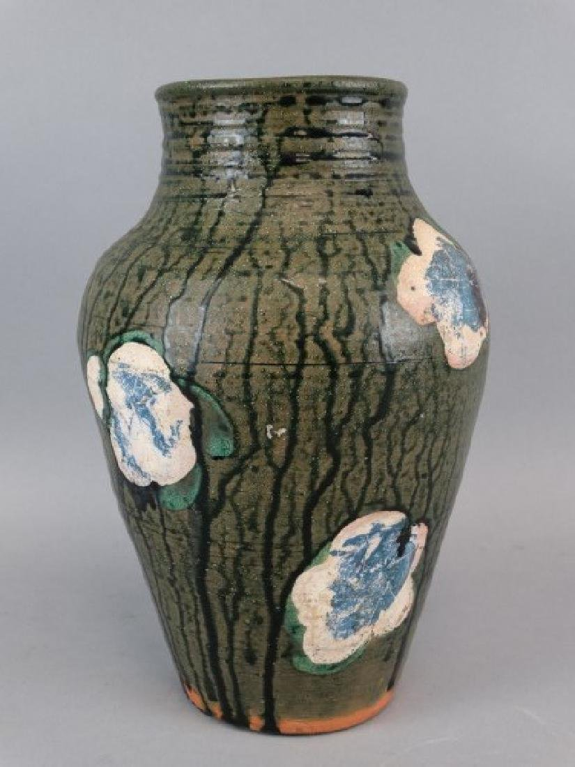 Old Painted Pottery Vase