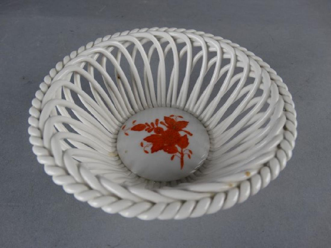 Herend Reticulated Porcelain Bowl