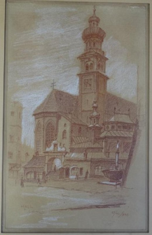 S. NICOLO - Pastel Painting - Church
