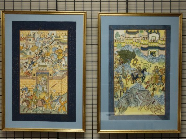 Pair of Hand Painted Indian Pictures
