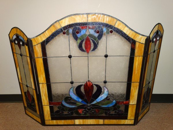 Stained Glass Fire Screen - 2