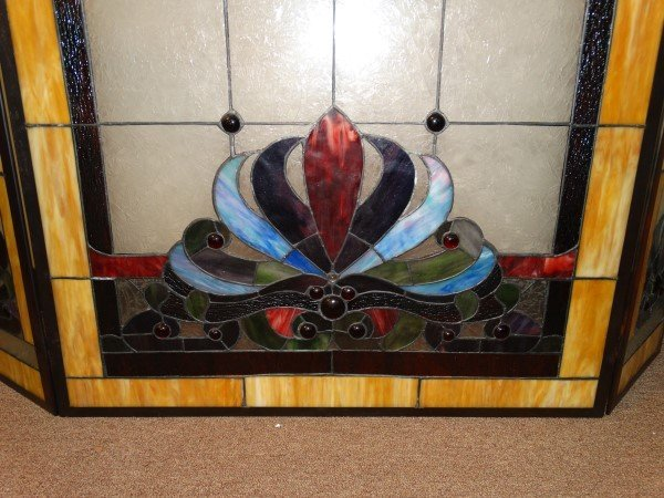 Stained Glass Fire Screen - 3