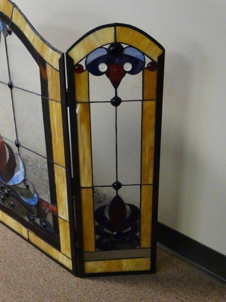 Stained Glass Fire Screen - 7