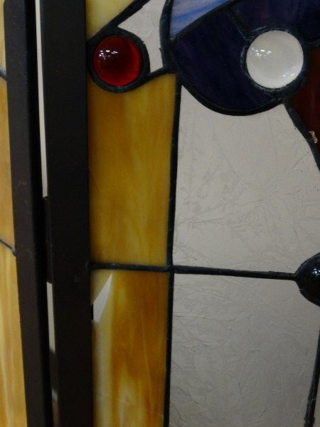 Stained Glass Fire Screen - 9