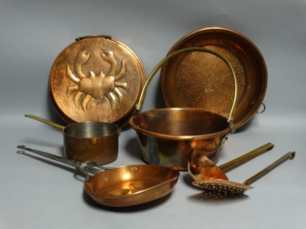7 pieces of Copper Cookware