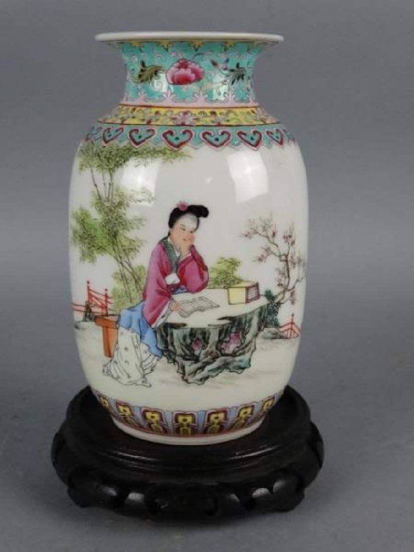 Republic Period Famille Rose Vase