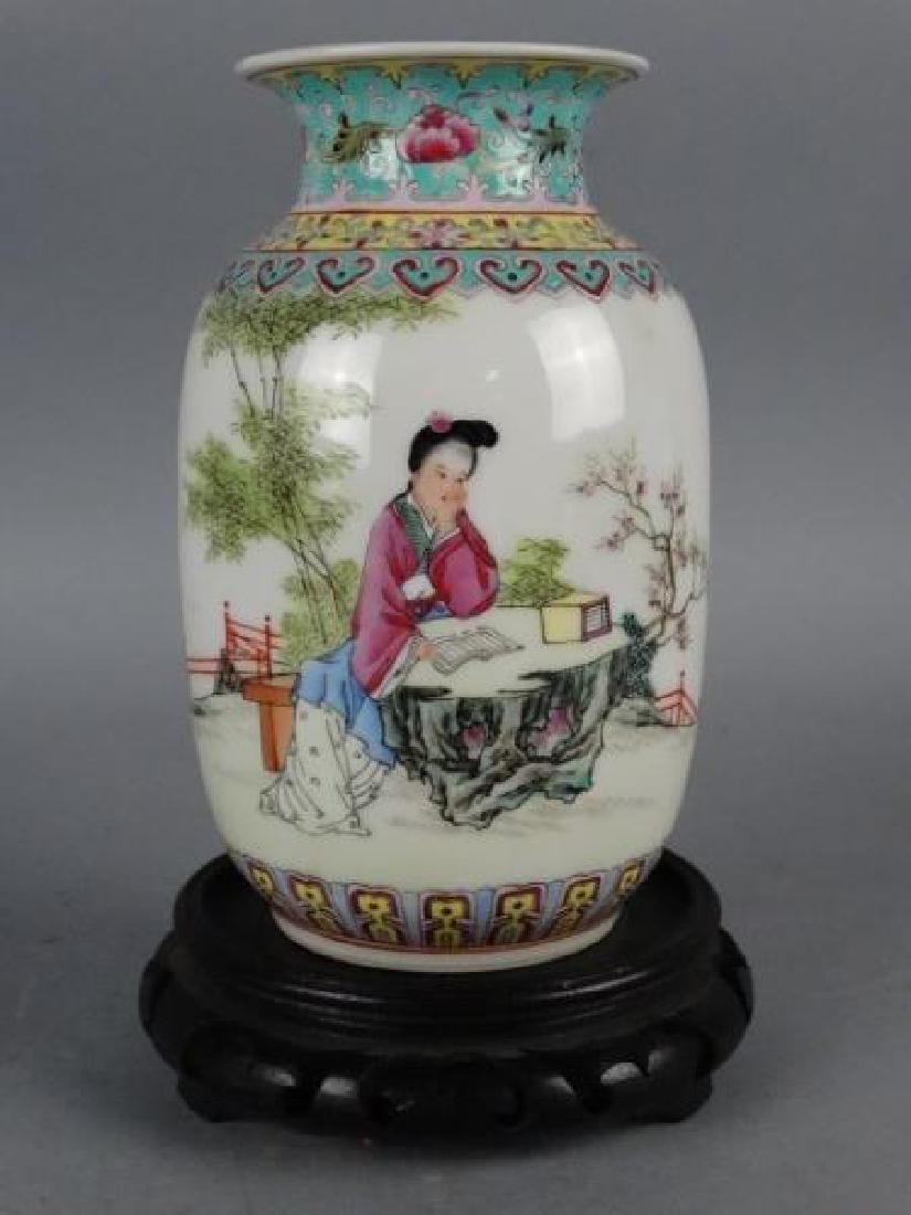 Republic Period Famille Rose Vase - 2