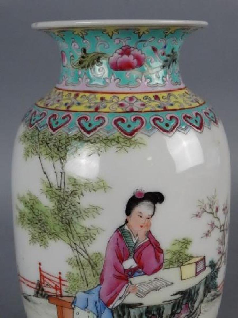 Republic Period Famille Rose Vase - 3
