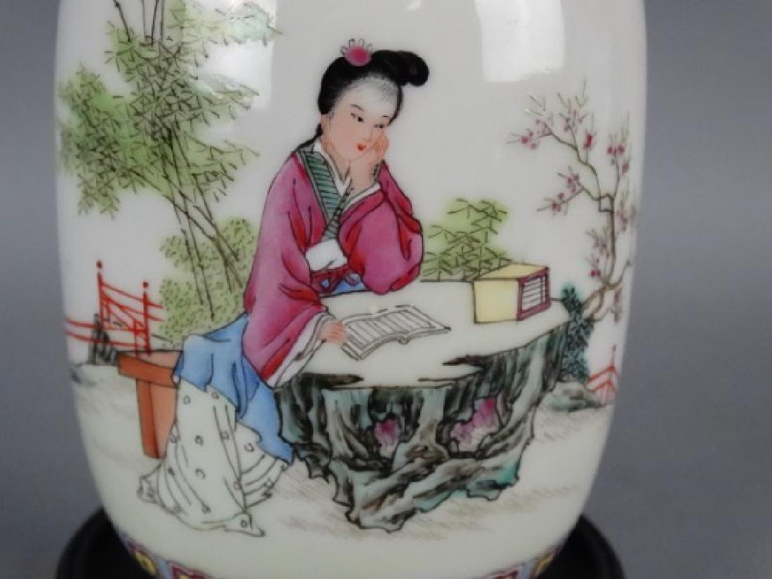 Republic Period Famille Rose Vase - 4