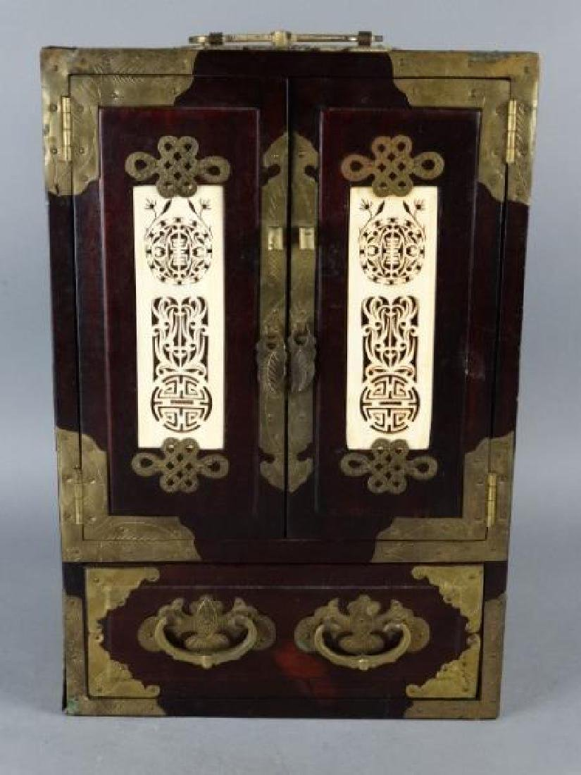 Very Ornate Wood Box w/ Highly Carved Inserts